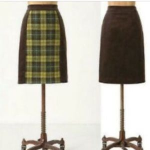 Super Cute Maeve Plaid Pencil Skirt